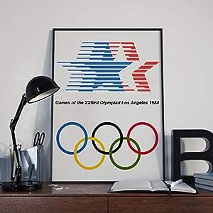 Plakat der Olympischen Spiele Poster – Los Angeles 1984