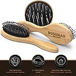 Bossman Boar and Nylon Bristle Hair and Beard Brush - Detangles & Straightens - Wooden Oval Wet Brush for Men 5