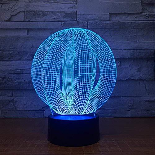 3D kleine lamp creatief stopcontact bed nachtlamp touch nachtlampje 7 kleuren nachtlampje