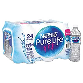 Bottled Water, 1/2 liter 2 Nestle Pure Life Purified Bottled Water, 16.9 Oz., Case Of 24