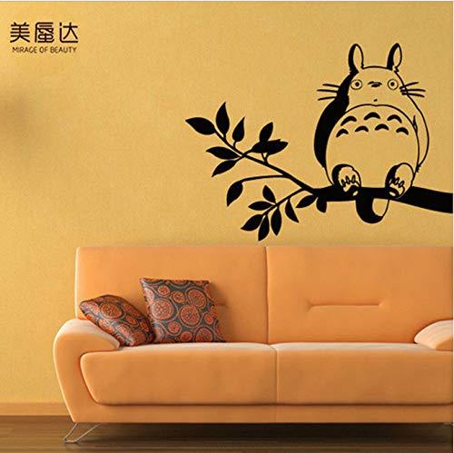 hfwh Muurstickers, Animated Cartoon Mijn Buurman Totoro Hayao Miyazaki Animatie Personages Slaapkamer Een Zitkamer Slaapbank Instelling Muur 57x80cm