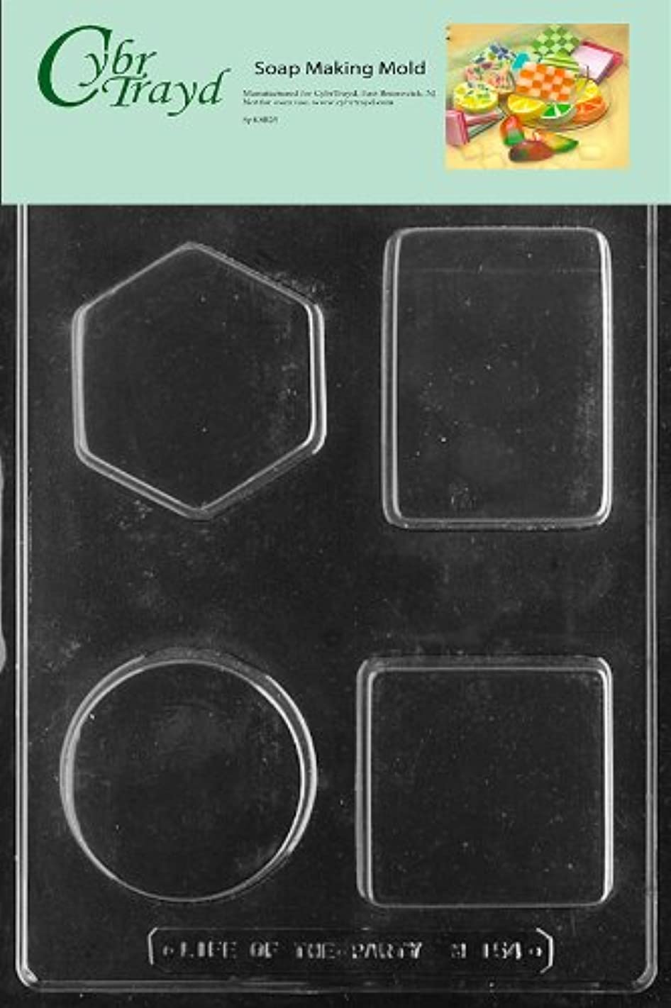 Cybrtrayd 4-Shape Soap Bars Soap Mold with Exclusive Cybrtrayd Copyrighted Soap Molding Instructions