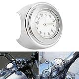 Reloj con esfera de motocicleta Reloj de motocicleta Antióxido de moda bastante fresco para motocicleta(Silver)