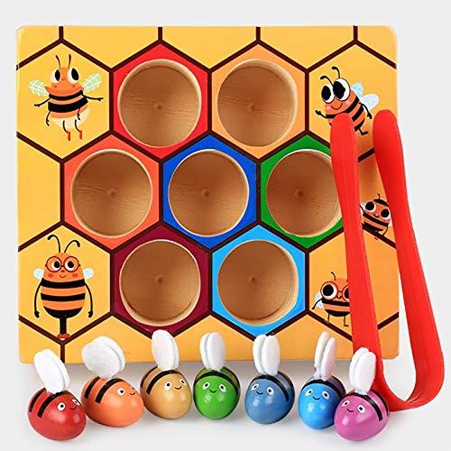 Clip de la Colmena del Color del Clip de Madera pequeña Abeja Juguetes educativos para la Primera Hijos de Educación Juguetes