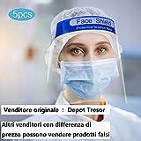 Visiera Protettiva di Sicurezza Visiera Trasparente Coperchio Antinebbia Proteggi Gli Occhi e Il Viso per Cucina da Laboratorio all'aperto (5)