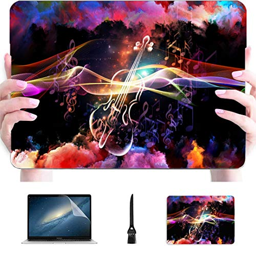 Macbook Accessories Case Artistic Made Violin Graphic Musical Plastic Hard Shell Compatible Mac Air 13' Pro 13'/16' 13 Inch Macbook Case Protective Cover For Macbook 2016-2020 Version