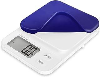 dretec(ドリテック) キッチンスケール はかり 料理 2kg 0.1g単位 シリコンカバー付 1年保証 ネイビー KS-716