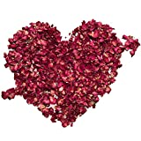 Rose Petals, XCOZU 100 Gram Dried Rose Petals Natural Red Flower Petal Confetti for Spa <span class='highlight'>Bath</span> Weddings Home <span class='highlight'>Bed</span> Party and DIY Crafts Accessories Biodegradable