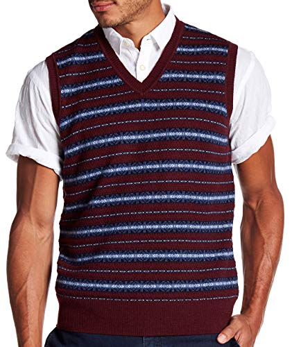 Brooks Brothers Men's Fairisle Wool Sweater Vest, Assorted (M)