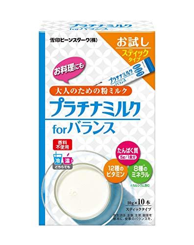 雪印 プラチナミルク for バランス やさしいミルク味 スティックタイプ 10g×10本