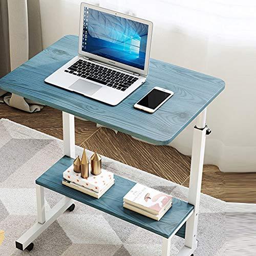 Tavolino da Letto Regolabile Tavolo da Ospedale, Scrivania for Laptop Rolling Carrello, Medico Comodino Overbed for L'ospedale, Pigro Portatile for Divano (Color : D, Size : 60x40cm)