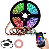 Tira LED de Bluetooth Luces de Tira LED Decorativa Controlada Impermeable por Smartphone APP/90LED 5050 RGB LED Prueba de Agua USB Multicolor Retroiluminación de TV Tiras de Luces LED Iluminación...