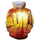Enfriar Paisaje increíble Bosque de otoño de impresión en 3D Moda Mujeres Camiseta de los Hombres/Camisas/Sudaderas/Chaleco/Tapas Hoodie XL