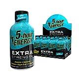 5-hour ENERGY Shot, Extra Strength Blue Raspberry, 1.93 Ounces 12 Count