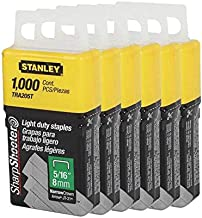 Stanley TRA205T 1,000 Units 5/16-Inch Light Duty Staples (6 pack)