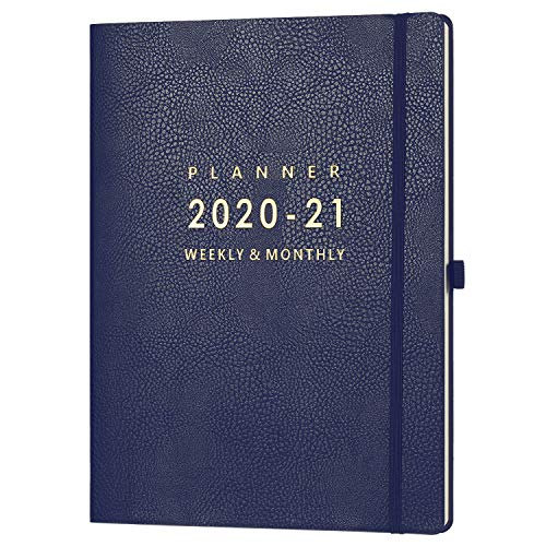 July 2020 - June 2021 Planner with Pen Holder - 8.5' x 11' Weekly & Monthly Planner with Calendar Stickers, July 2020 - June 2021, Inner Pocket with 24 Notes Pages, A4 Premium Thicker Paper