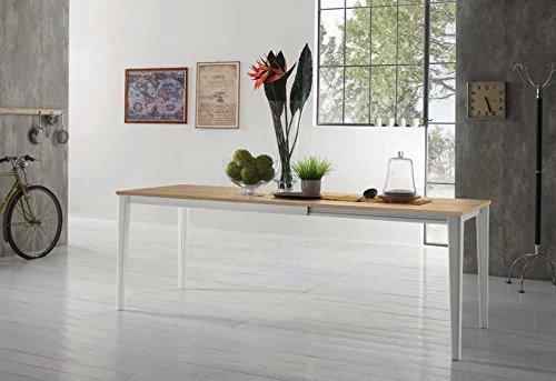 Zamagna – Mesa Extensible Dom 140 Estructura Color Aluminio Lacado  Antracita ral7043 – Piana: melaminico Antracita ral7043