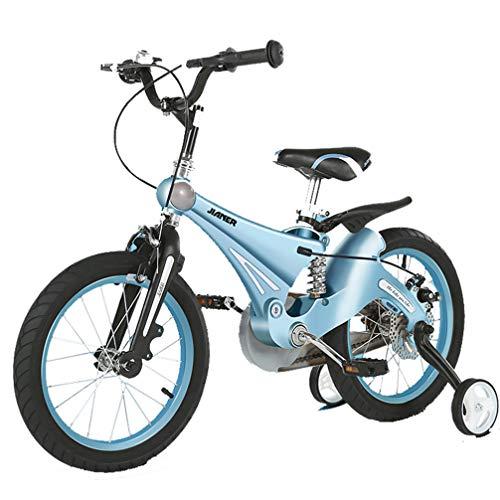ZKHD Männer und Frauen Kinderfahrräder mit Stoßdämpfern für 3-6 Jahre alt, eine Vielzahl von Farben und Größen sind vorhanden,Holy Lake Blue,12 inches
