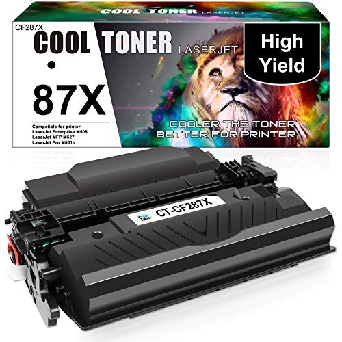 Cool Toner Compatible Toner Cartridge Replacement for HP 87X CF287X 87A CF287A M506 Toner HP Laserjet Enterprise M501dn M527 M501 M506dn M506N M506X MFP M527dn M527c M527z Printer Ink (Black, 1Pack)