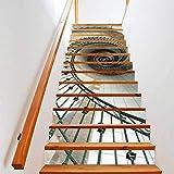 Pegatinas De Escaleravinilos Escaleras Vinilos Para Pared Escaleras 3D Creativas Pasaje Pasaje Pegatinas Refurbadas Dormitorio Autoadhesivo Pegatinas De Pared Escaleras Giratorias 13 Pegatinas De Esca