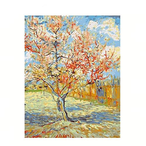 CXIANHUI Rompecabezas Adultos 1000 Piezas,La Famosa Pintura De Van Gogh Peach Blossom Arte Puzzle Rectangular,Eco-Friendly Cartón Puzzles Rompecabezas Brain Challenge Rompecabezas para Niños Adultos