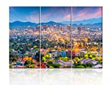 3 Pieces City Skyline Wall Art Painting Phoenix, Arizona, USA Downtown Pictures Prints On Canvas Landscape The Picture Decor Oil For Home Modern Decoration Print For Items - 28'' x 14'' x 3 Panels