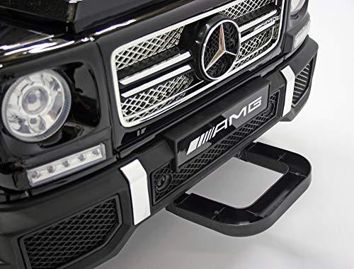 RC Auto kaufen Kinderauto Bild 6: moleo Mercedes G65 AMG Kinder Auto Elektroauto Kinderauto Kinderfahrzeug Elektrofahrzeug mit LED-Beleuchtung, verschiedenen Sound- und Lichteffekten 2.4 GHz, Antrieb: 2X 45W Motor, (Black)*