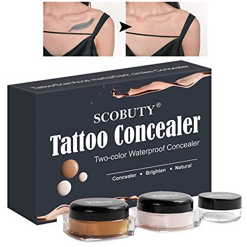 Tattoo Cover,Tattoo Concealer,Scar Concealer,natürlicher professioneller wasserdichter narben-concealer zum abdecken von narben, muttermalen, tätowierungen, aufhellen der haut und unisex