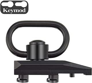 Fyland M-LOK Keymod QD Sling Mount,Quick Detach/Release Heavy Duty Push Button Sling Swivel with Keymod M-LOK Adaptor Base