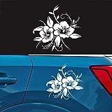 Airymap Stickers pour Voiture - Fleur Pleine Fleur - Machine à Voiture personnalisée - Nouveauté, Auto Moto, Autocollants, Décalques décoratifs Noirs Auto Styling