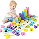 Puzle de madera de madera para aprender a contar, juguete educativo para niños de 3 a 6 años, regalo para niños