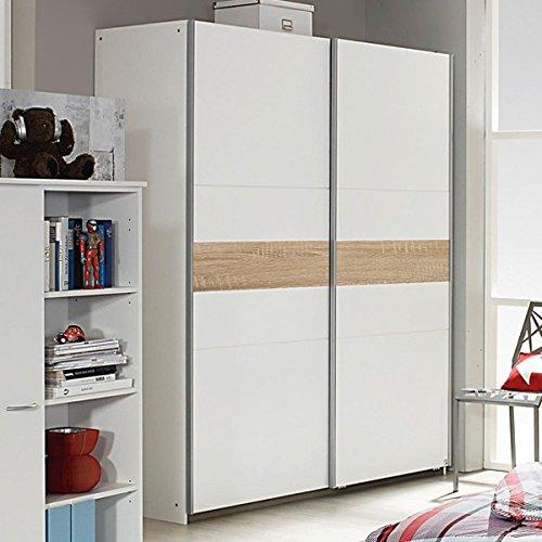 Schwebetürenschrank weiß B 175 cm Schrank Kleiderschrank Schiebetürenschrank Jugendzimmer Kinderzimmer Schlafzimmer