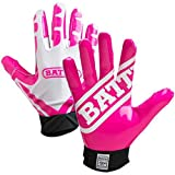 Battle Ultra-Stick Football Gloves – Ultra-Tack Sticky Palm Receivers Gloves – Pro-Style Receiver Gloves, Youth