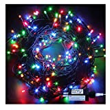Indoor Christmas String Lights - 220 LEDs 82ft/25m 8 Modes Memory Function End-to-End Plug in Outdoor Waterproof Decorative Fairy Twinkle Lights for Tree/Wedding/Thanksgiving Day/Patio/Room - Colorful