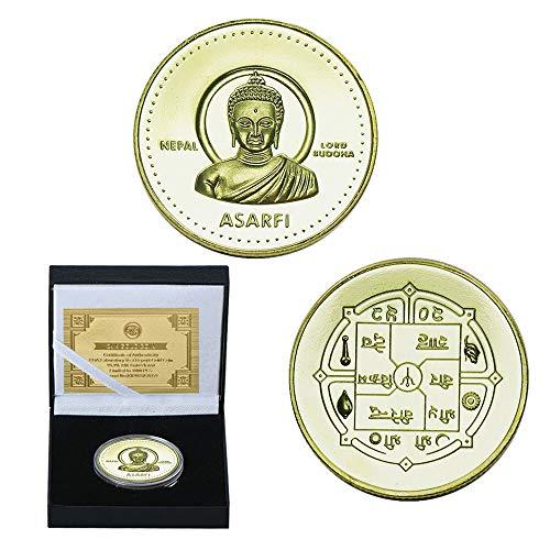 LSJTZ Buddha, glücklich, Shakyamuni, Amitabha, Vergoldet, Sammlung, Missionary, Gedenkmünzen, Schön, Schön, Qualität, Alten Indien, Gautama Siddhartha