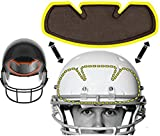 No Sweat Football Helmet Liner & Sweat Absorber - Moisture Wicking Sweatband Absorbs Dripping Sweat | Prevent Sweat Stains - (Reduce Odors, Anti Smell & Scent Block) (6 Pack)