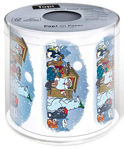Toilettenpapier 1 Rolle Waiting Time - Eile am Klo | Tiere | Winter | Weihnachten
