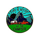 Camco Life is Better at The Campsite Sunrise Design Decorative Enamel Pin-Perfect Accessory for...