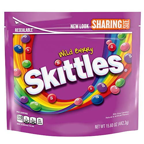 Skittles, Wild Berry Candy Sharing Size Bag, 15.6 oz
