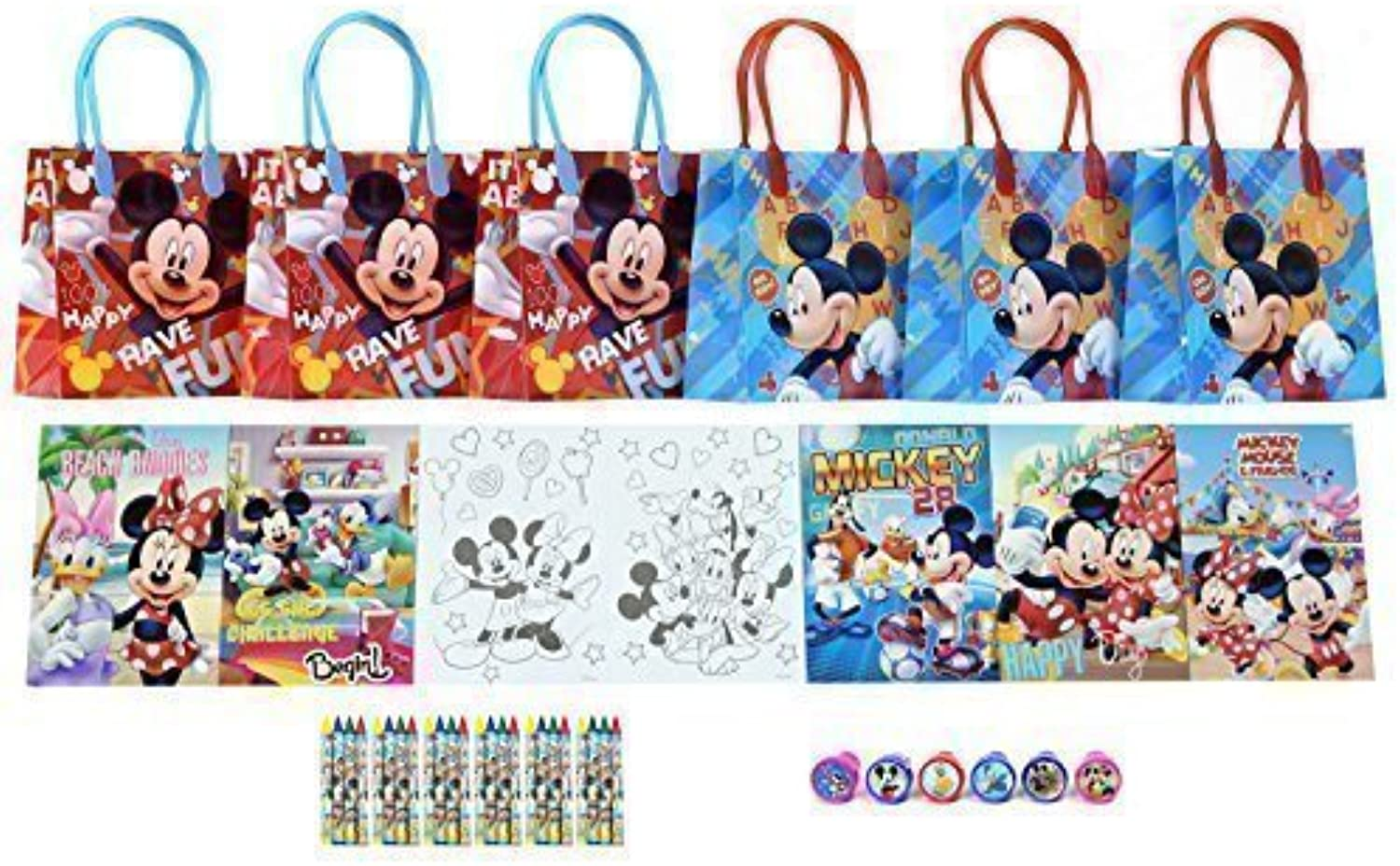 Disney Mickey Mouse and Friends Party Favor Set - 6 Packs (42 Pcs)