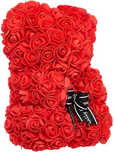 Brandsseller Oso de rosa de aprox. 25 cm de alto, decoración de...