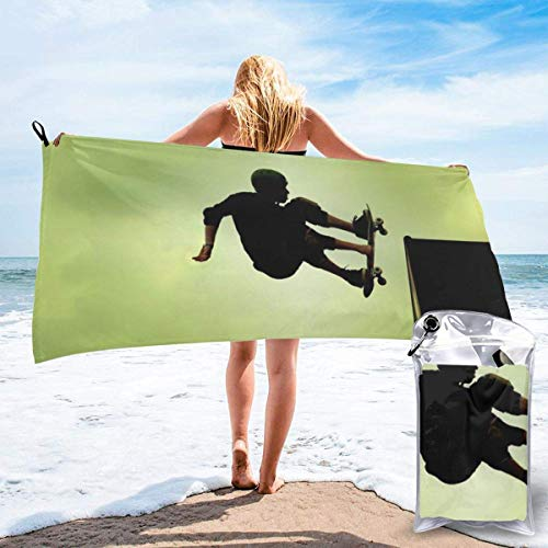 shenguang Skateboard Printed Travel Quick Dry Bath Towels Sports Gym Microfiber Beach Towels Camping Swimming Compact Towel