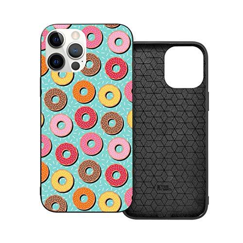 Colorful Donuts iPhone 12/12 Pro Max, 6.1 pulgadas funda duradera a prueba de golpes TPU Bumper Case