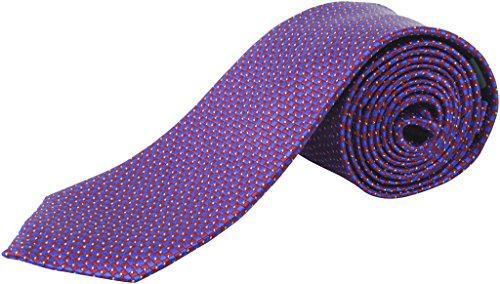 Lauren Ralph Lauren Herren Jacquard-Krawatte, 0S, Rot / Violett