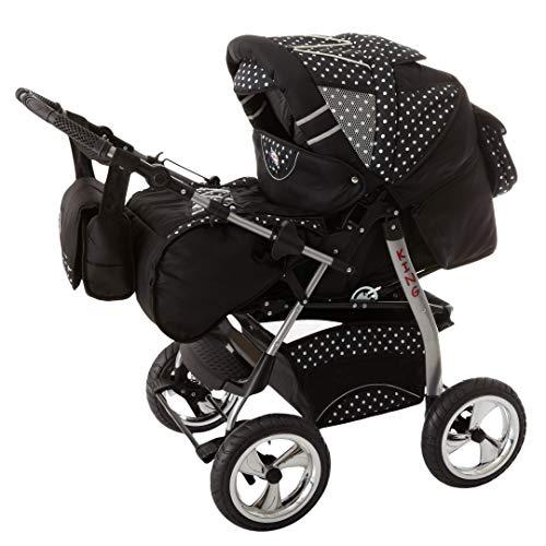 Poussette Combinée Trio landau 2en1 3en1 Isofix siège Auto KingCar by SaintBaby noir cosmique & flocons de neige 3en1 avec siège bébé