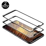 [Techkun] Panzerglas Schutzfolie für Xiaomi Pocophone F1 [2 Stück],9H Festigkeit Panzerglasfolie Ultra Dünn HD Bildschirmschutzfolie Vollständige Abdeckung Glas Folie für Xiaomi Pocophone F1(Schwarz)