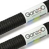 2er SET Multifunktion Kernmantel-Seil (aus Nylon) aus sehr robustem und reißfestem 'Parachute Cord' / 'Paracord 550', 550lbs, Gesamtlänge 62 Meter (200 ft), Farbe: schwarz WICHTIG: DIESES PARACORD SEIL IST NICHT ZUM KLETTERN GEEIGNET!- Marke Ganzoo