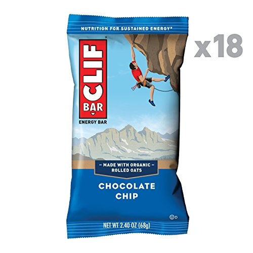 CLIF BAR - Energy Bars - Chocolate Chip - (2.4 Ounce Protein Bars, 18 Count) (Packaging May Vary)