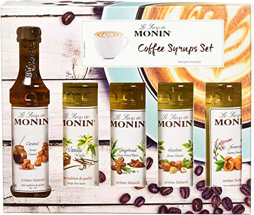 Mini Monin Coffee Syrups 5 x 50ml