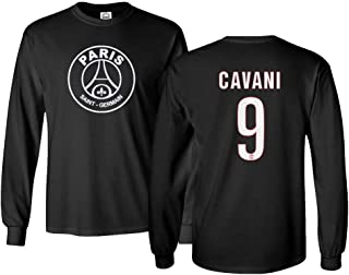Paris Soccer Shirt #9 Cavani Men's Long Sleeve T-Shirt
